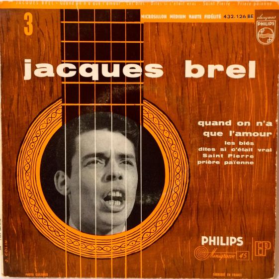 Jacques Brel Vinyl Single EP Quand On N'A Que L'Amour