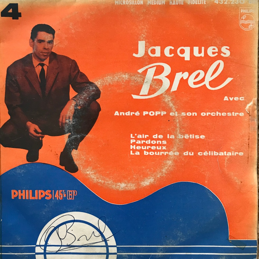 Jacques Brel Vinyl Single EP L'Aire De La Betise