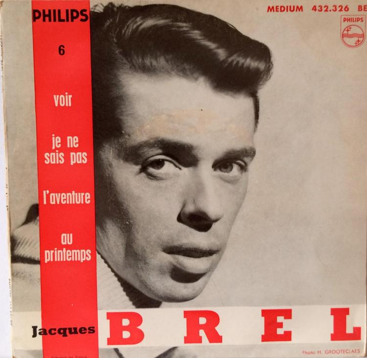 Jacques Brel Vinyl Single - Voir