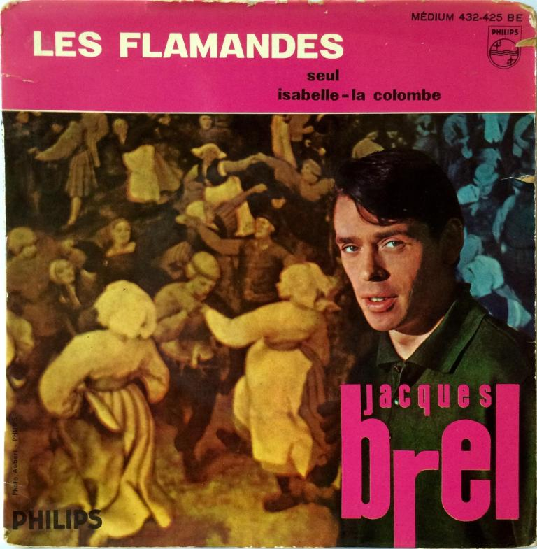 Jacques Brel Vinyl Single - Les Flamandes