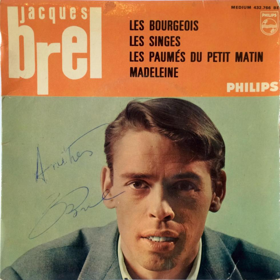 Jacques Brel Vinyl Single EP Les Bourgeois