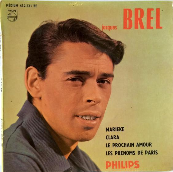 Jacques Brel Vinyl EP - Marieke, Clara, Le Prochain Amour, Les Prénoms De Paris