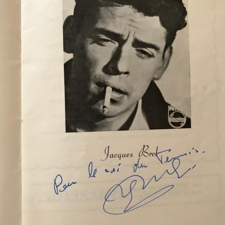 Jacques Brel Autographed Programme