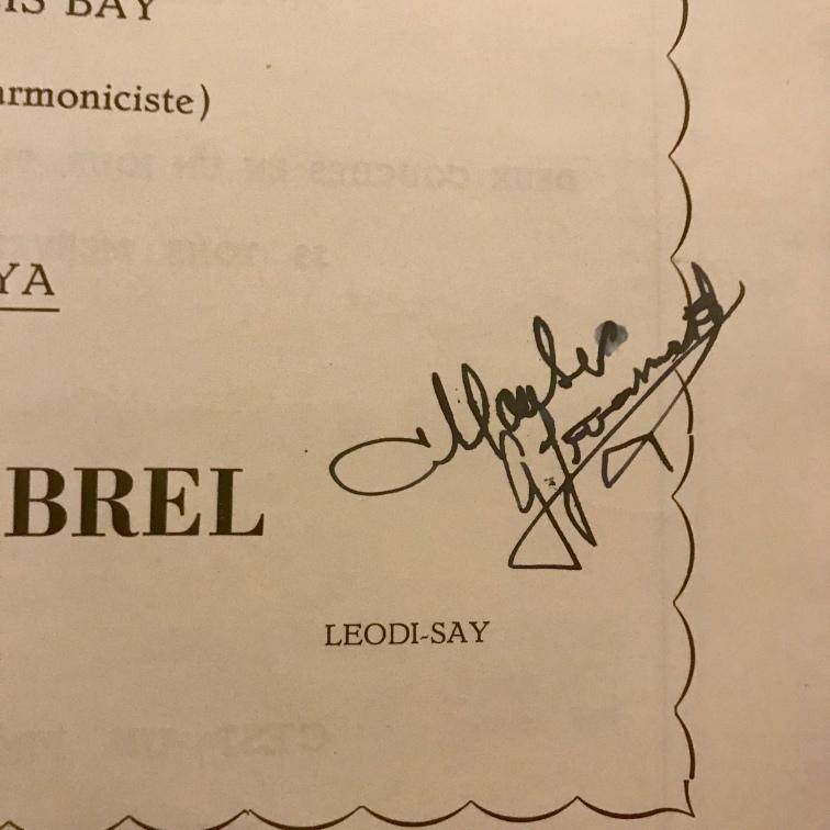 Gerard Jouanest, Autographed Programme