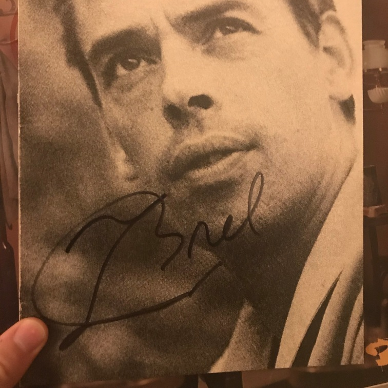 Jacques Brel Autograph