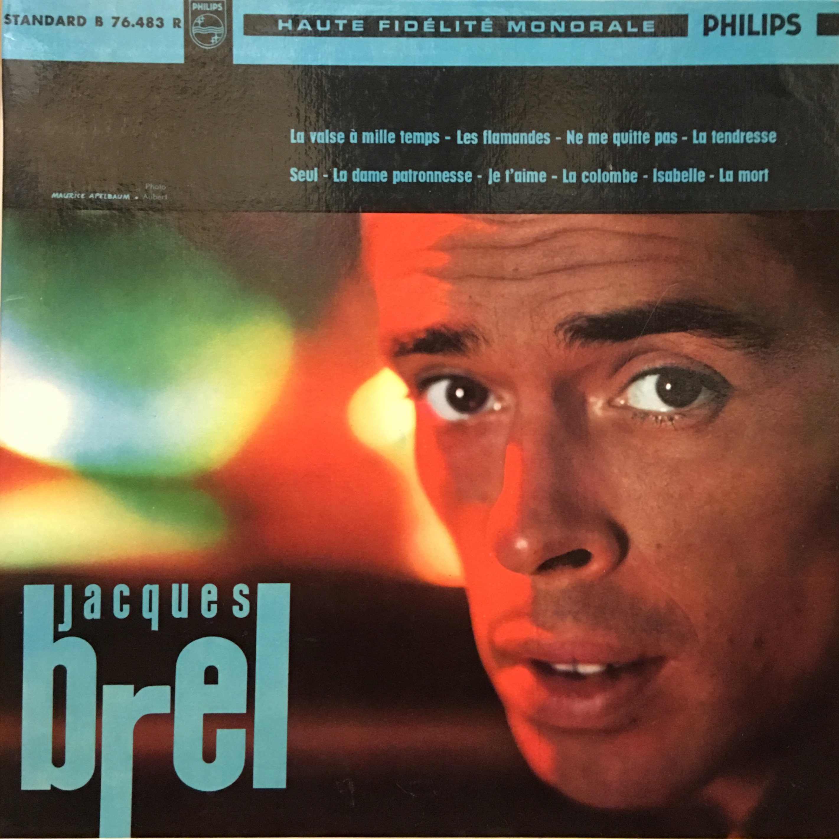 Jacques Brel, La Valse A Mille Temps, Front Cover